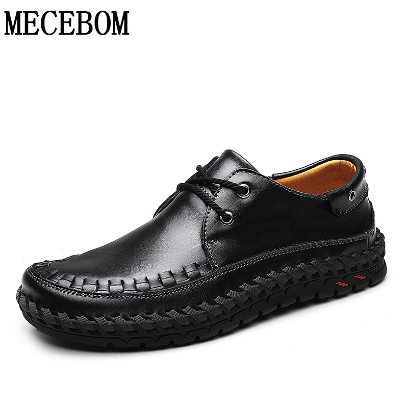 Men's shoes quality split leather lace-up casual shoes breathable flats footwear chaussure homme size 39-44 6009m new stylish man shoes lace up round toe comfort breathable shoes for man casual flats loafers chaussure homme free shipping