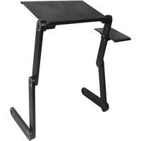 Leewince компьютерные столы Портативный Регулируемая Складная ноутбука тетрадь Lap PC складной стол вентилируемый стенд кровать лоток