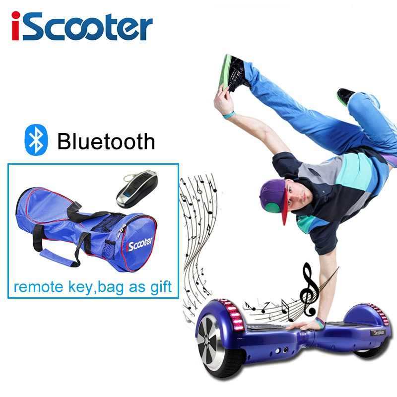 Iscooter Hoverboard 6.5 Inch 2 Wheel Smart Bike Listrik Skateboardself Balance Scooter dengan Bluetooth Hadiah Natal