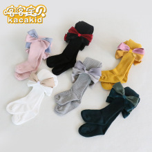 KACAKID Official Store New Arrival Lovely Girls Tights Cute Bow Knot  Lolita Children Ka1299