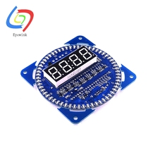 DS1302 Rotating LED Display Alarm Electronic Clock Module LED Temperature Display