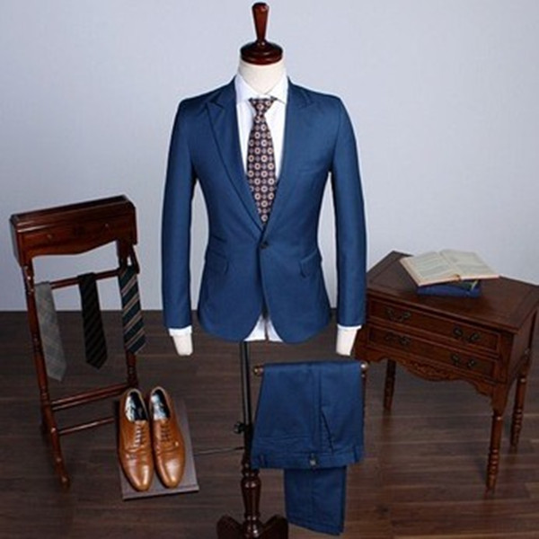 New arrive top selling custom tailored navy men's suits-in Suits ...