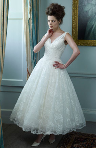 Online get cheap informal wedding dresses for Lace ankle length wedding dress