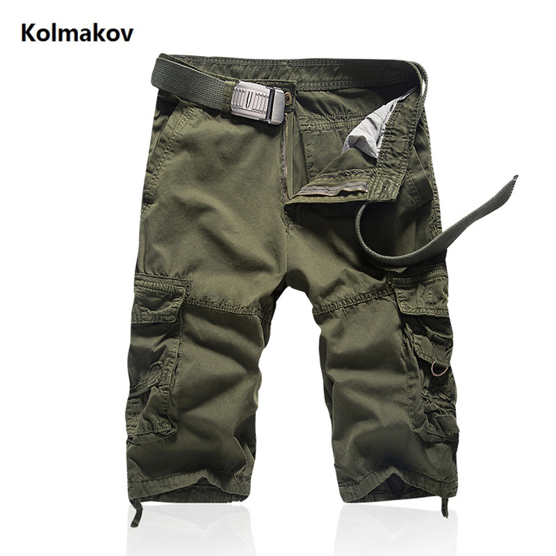 2018 Summer New Brand Clothing Men's Fashion Cargo Shorts Men Camouflage Military Casual 100% cotton Shorts Homme Shorts