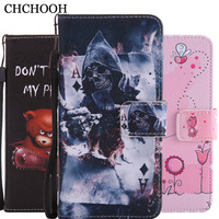 For Huawei P10 Lite Flip Cover Fashion Print Leather Phone Case For Huawei P10 Lite (5.2 inch) Magnetic Protective Cases