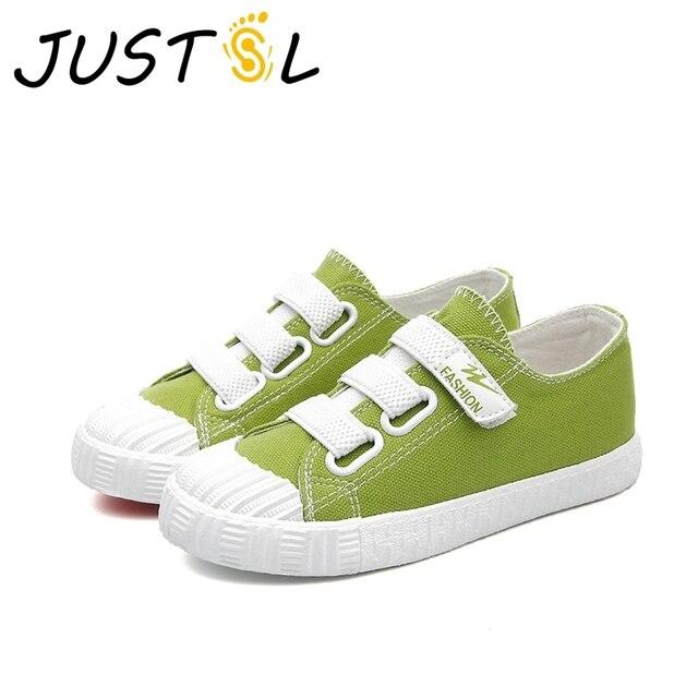 JUSTSL Estate dei nuovi bambini scarpe di tela casuali delle ragazze dei  ragazzi adolescenti scarpe cinque c73500a485c