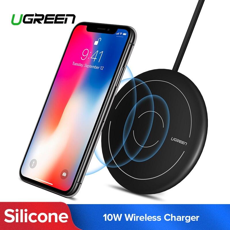 Ugreen Qi Drahtlose Ladegerät für iPhone 8 X XS 8 Plus 10 watt Schnelle Wireless Charging Pad für Samsung Galaxy s8 S9 S7 Drahtlose Ladegerät
