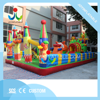 Надувной веселый город с горкой для детей, открытый детский надувной игровой площадка, гигантский замок для детей на продажу
