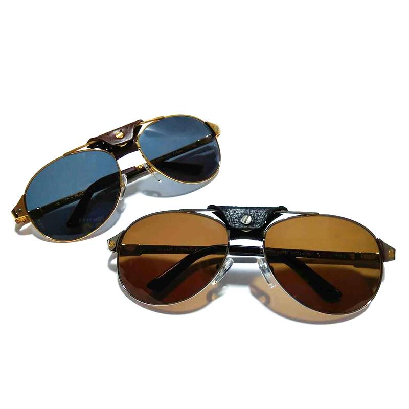 Golden Sunglasses Carter Glasses Santos Eyeglasses Carter Sunglasses Men Aviator Shades Retro Women Christmas Gift 554 women s classic cat eye sunglasses retro metal frame eyeglasses eyewear shades