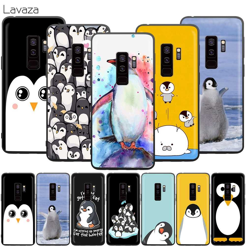Lavaza Cute Lovely Penguin Case for Samsung Galaxy J6 A9 A8 A7 A70 A6 A5 A50 A40 A30 A3 A10 2018