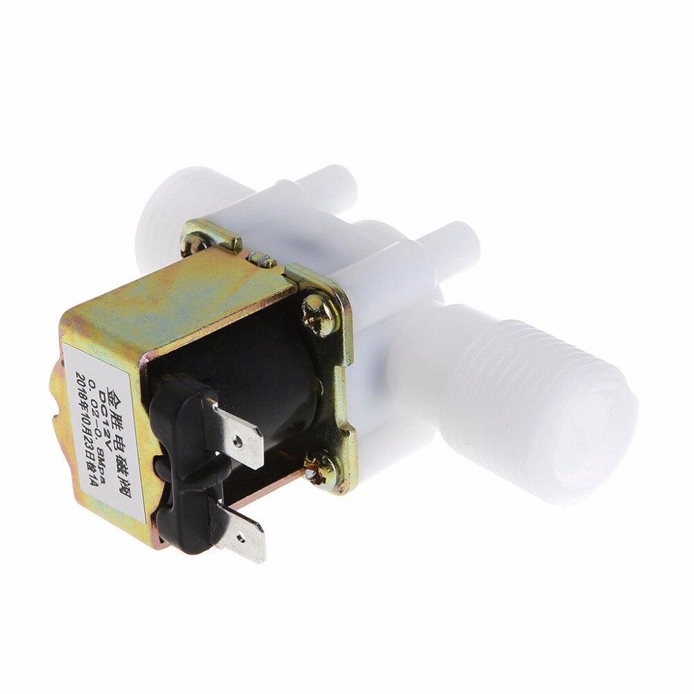 """1//2 /""""N//c Ac220v Magnético N//c Electric solenoide válvula de agua de entrada de aire de flujo de conmutador"""