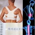 Aofeite Unisex Ajustable Magnética Corrector de Postura Ortopédico Cinturón Corsé Back Support Brace Chaleco Negro Blanco