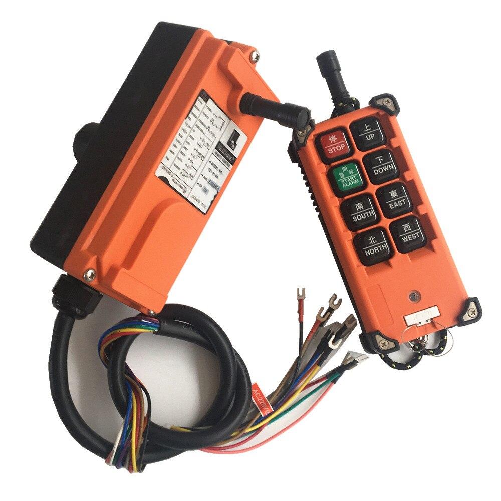TELECRANE industrielle Radio sans fil simple vitesse 8 boutons F21-E1B télécommande (1 émetteur + 1 récepteur) pour grue