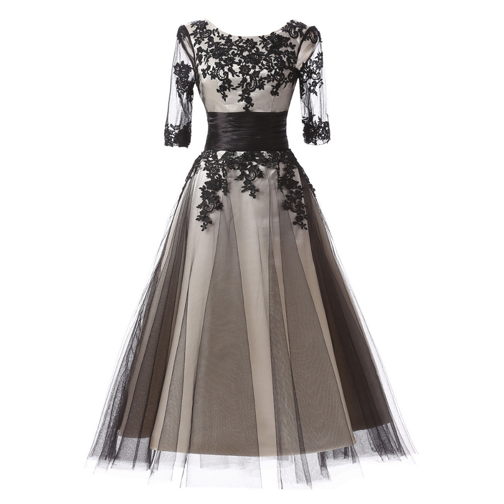 Grey prom dresses promotion shop for promotional grey prom for Black and grey wedding dress