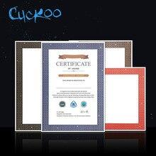 Cuckoo, 1 шт., наградный сертификат, производственный учебный сертификат, ядро, на заказ, тиснение, сертификат, бумага A4, для печати, крафт-бумага