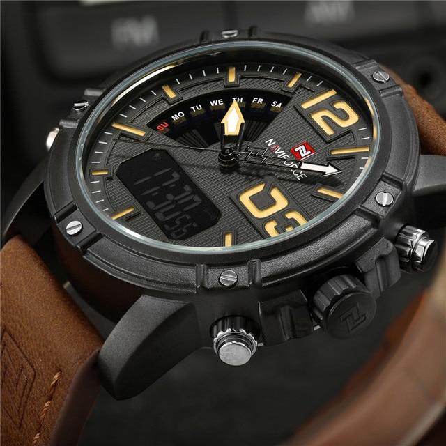 85eb3002362 NAVIFORCE Men Watch Esporte Digital relógio de Pulso Dos Homens Top Marca  de Luxo Militar Do