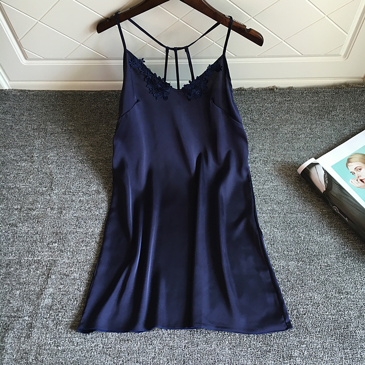 Women   Nightgowns   Sexy Lingerie Lace Nightdress Spaghetti Strap Nightwear   Nightgowns   &   Sleepshirt   Backless Sleep Lounge