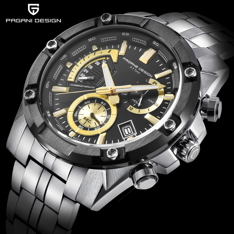 2018 New PAGANI DSEIGN Men Watches Top Brand Luxury Stainless Steel Strap Quartz Watch Fashion Sport Men Clock Relogio Masculin curren men watch top luxury men quartz analog clock steel strap watches hours complete calendar relogios masculin drop shipping