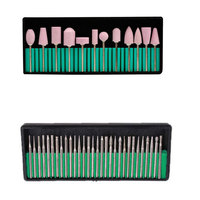 Professional 30 Pcs Set Nail Art Drill Bits 12pcs Set Nail Art Polishing Grinding Heads Nail