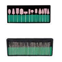 Professional 30 Pcs Set Nail Art Drill Bits 12pcs Set Nail Art Polishing Grinding Heads Nail