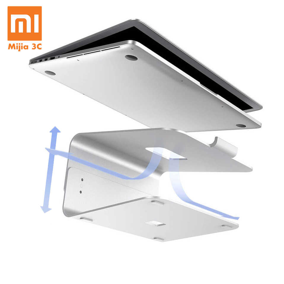 Xiaomi Mijia E-Stand Desk Laptop Stand Holder Tablet Bracket Adjustable Aluminum Mount Aluminium Alloy Cooling Notebook StandXiaomi Mijia E-Stand Desk Laptop Stand Holder Tablet Bracket Adjustable Aluminum Mount Aluminium Alloy Cooling Notebook Stand