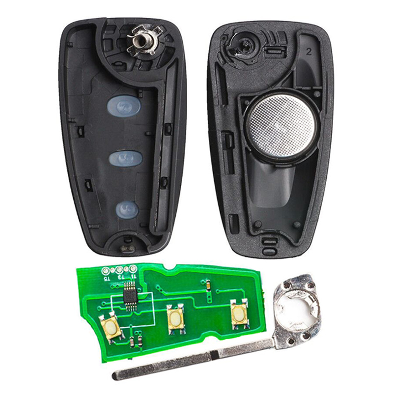 Image 2 - KEYECU 434MHz ID83 Chip 5WK49986 Replacement Remote Key Fob 3 Button  for Ford C Max S Max Focus Grand Mondeo 2010 2014 HU101-in Car Key from Automobiles & Motorcycles