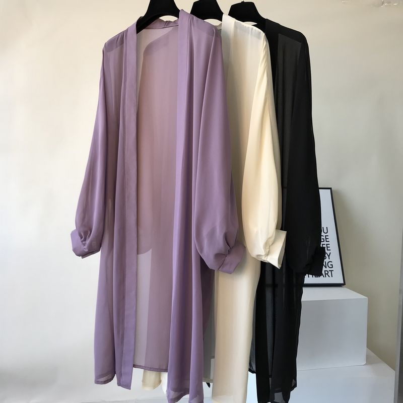 2019 Harajuku Long   Blouse     Shirt   Women Summer Long Sleeve Chiffon Kimono Womens Tops Plus Size Thin   Blouses   blusas camisas mujer