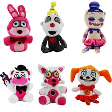 New Game 6 styles Doll Five Nights At Freddy's Plush Toy Sister Location Fun time Freddy Foxy Ennard ballora stuffed Dolls gift