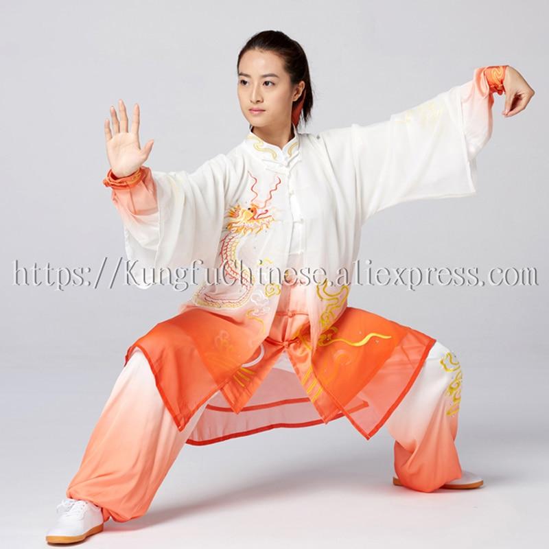 Китайская Униформа Тай Чи одежда для боевых искусств тайцзи одежда Кунг Фу наряд для женщин мужчин детей девочек и мальчико