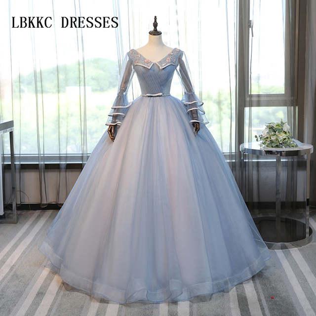 Vestidos De Quinceañera De Princesa De Manga Larga Vestido De Baile De Encaje Dulce 16 Vestidos De Baile Vestidos De 15 Anos Vestido De Debutante