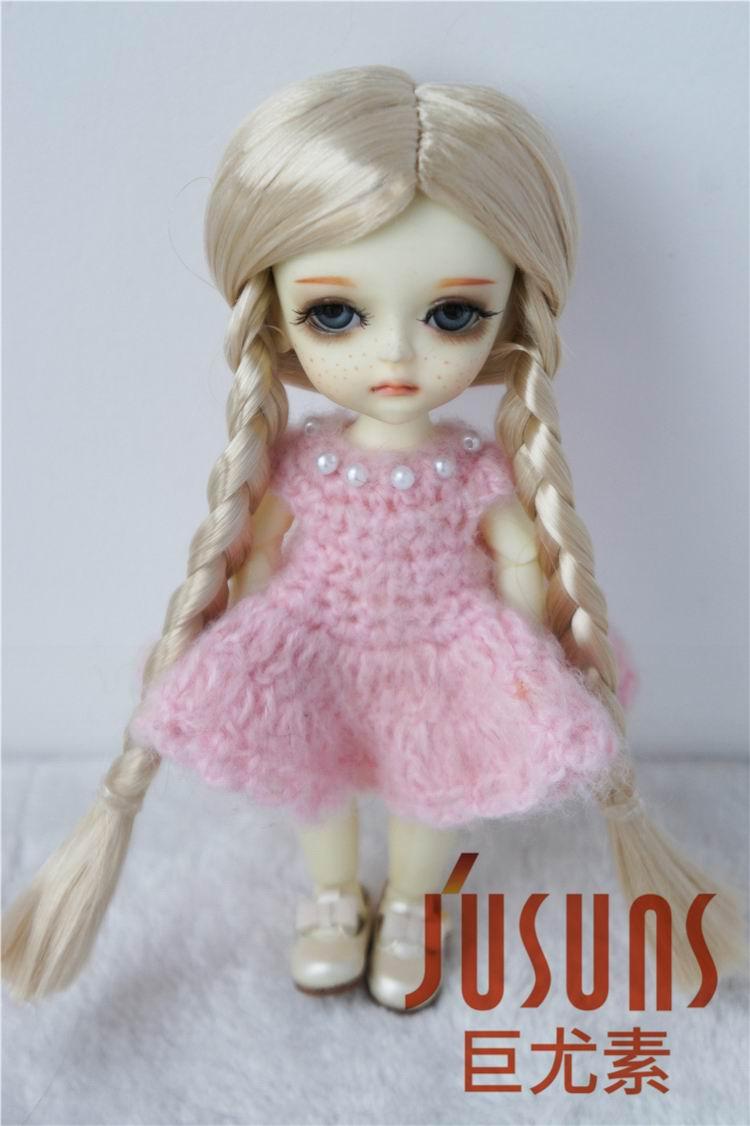JD103 1/12 1/8 Belle poupée en mohair synthétique BJD perruques