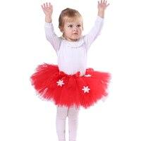 Fluffy Tutu Skirt Cute Red Green Tutus Children Kids Tulle Skirt Party Birthday Girls Skirts Summer