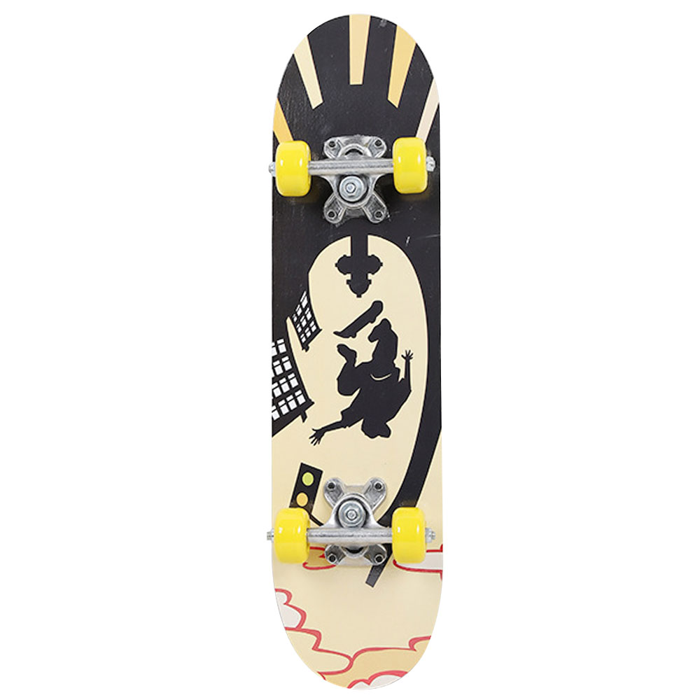 Maple Wood Extreme Sports Popular Skate Board Fashionable Single Warping Slide Teenagers Complete Skateboard Four Wheel Scooter