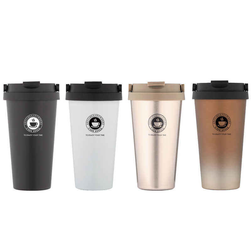 0d27c6c1be4 UPORS Portable 500 ML Stainless Steel Coffee Mug Double Wall Vacuum  Insulated Travel Mug with Leak