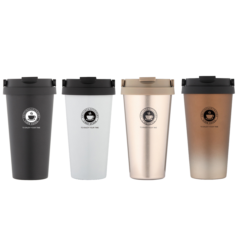 Upors Portable 500 Ml Stainless Steel Coffee Mug Double Wall Vacuum Insulated Travel With Leak Proof Lid Wide Mouth Tumbler