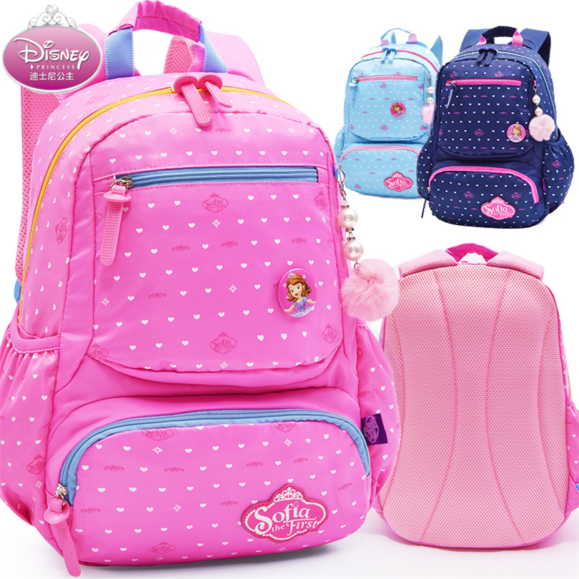 Disney Sofia princesse enfants sac à dos de haute qualité Dots cartables pour garçons filles cartable ultraléger enfant cartable Grade 1-5
