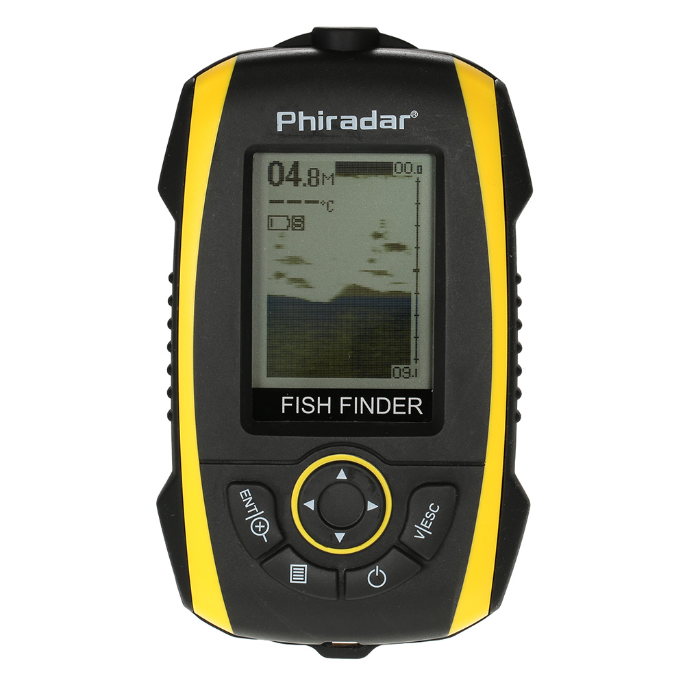 Portable fish finder 72m 240ft depth sonar sounder alarm for Fish finder depth finder