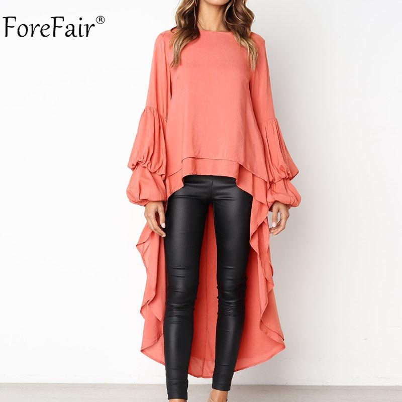 Autumn Lantern Sleeve Chiffon Casual Shirt  1