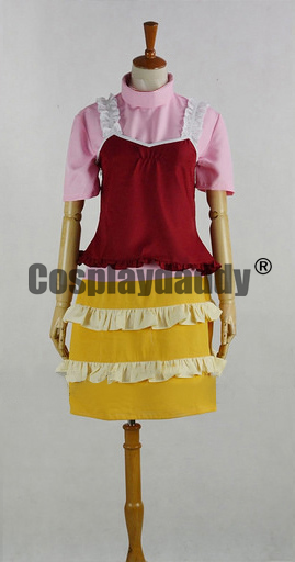 Elfen Lied Lucy Nyu Kaede Dress Anime Cosplay Costume F006