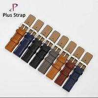 2017 Antique 125X80 Soft Calf Genuine Leather Watch Strap 18 20 22 24 26 Mm Classic