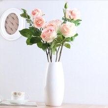Высокий искусственный цветок поддельные розы букет ДОМА вечерние праздничное свадебное украшение UEJ