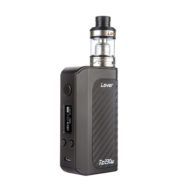Original Vape Vaporizer Lover Kit TC 230W Box Mod with 0.2ohm Atomizer as TFV8 Baby Tank V8 Baby T6 Coil yiloong vape geyscano box 50w bf mod kit
