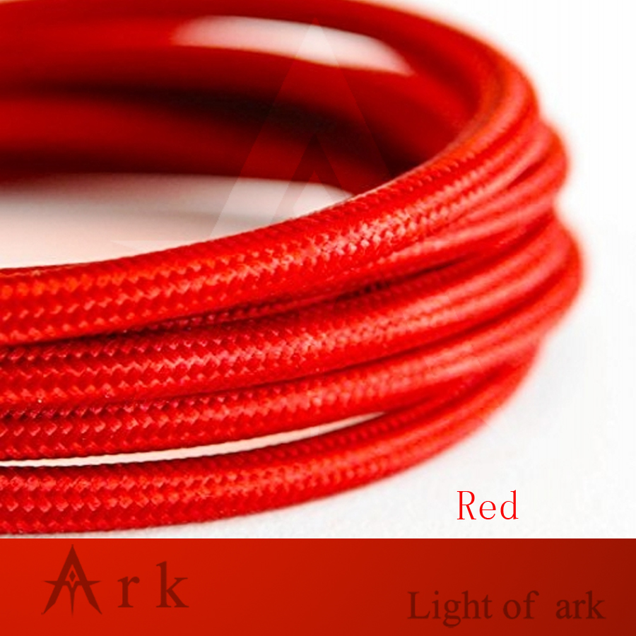 2*0.75 red Edison Textile Cable Fabric Wire Chandelier Pendant Lamp Wires Braided Cloth Electrical Cable Vintage Lamp Cord2*0.75 red Edison Textile Cable Fabric Wire Chandelier Pendant Lamp Wires Braided Cloth Electrical Cable Vintage Lamp Cord