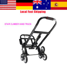1Set Stair Climber Hand Truck Solid Rubber Tires-440LBS Barrow Handtruck Bracket Roll Cart Trolley stair climbing truck Newest(China)
