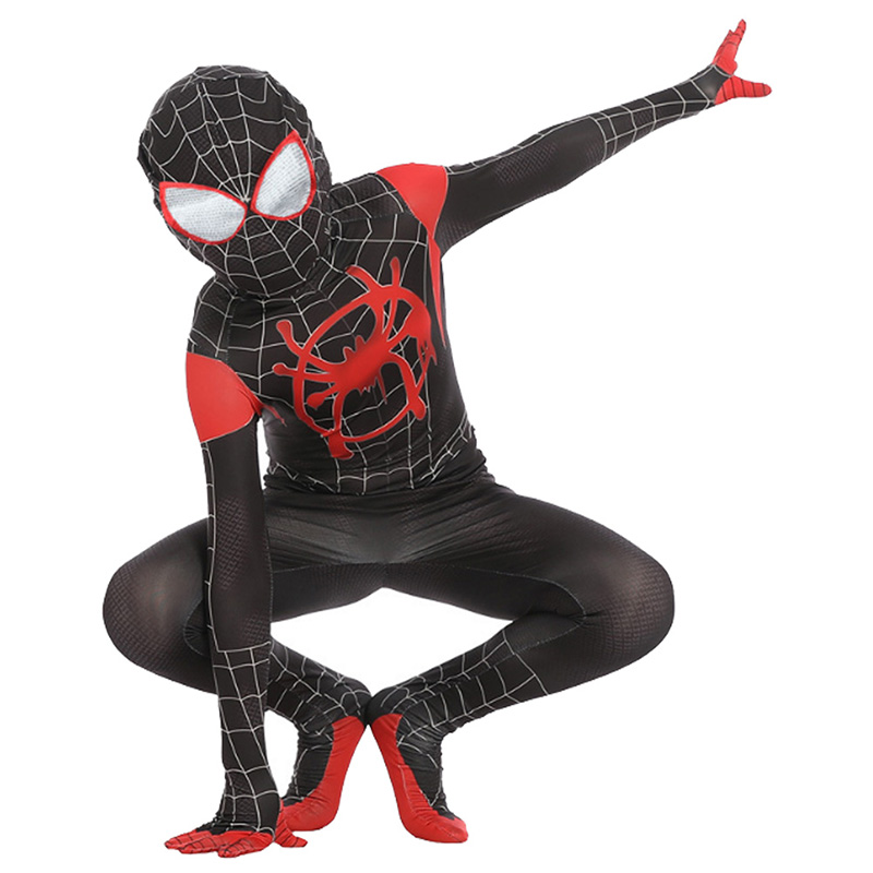 Kids Spiderman Outfit Spider-Man: Into the Spider-Verse Miles Morales Cosplay Costume For Child