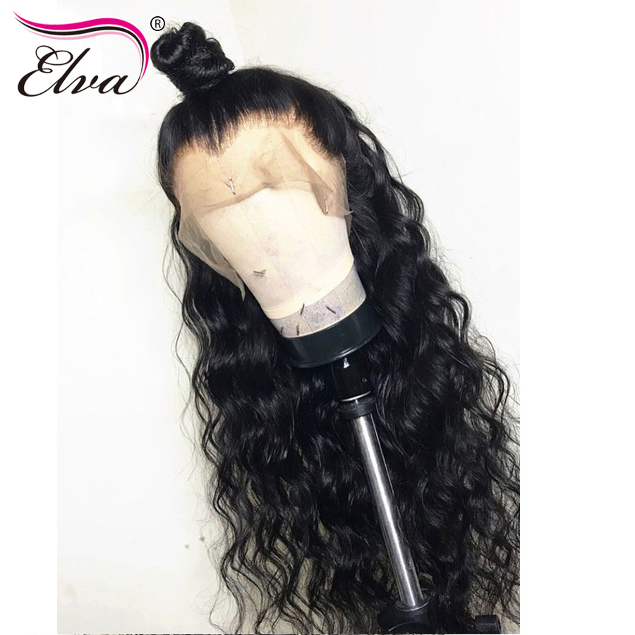 Elva Curly Lace Front Human Hair Wigs PrePlucked Brazilian Hair Lace Frontal Wigs For Black Women