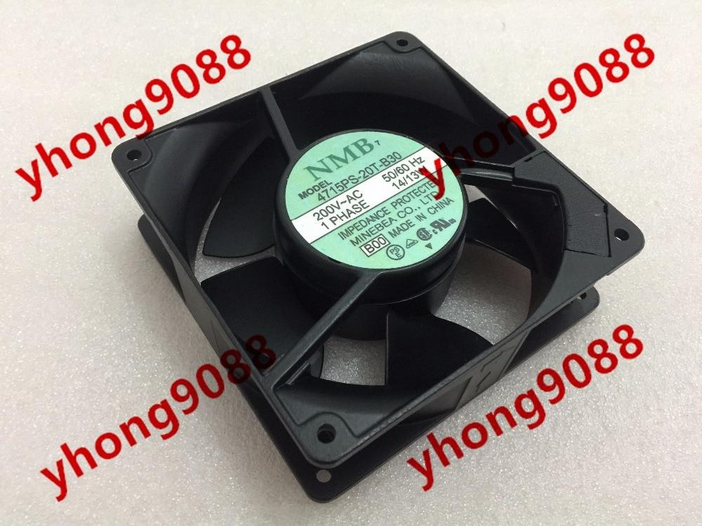 NMB-MAT 4715PS-20T-B30 B00 AC 200V 14/13W   120x120x38mm  Server Square fan free shipping for orix mu1238a 41b ac 200v 14 13w 2 pin 120x120x38mm server square fan