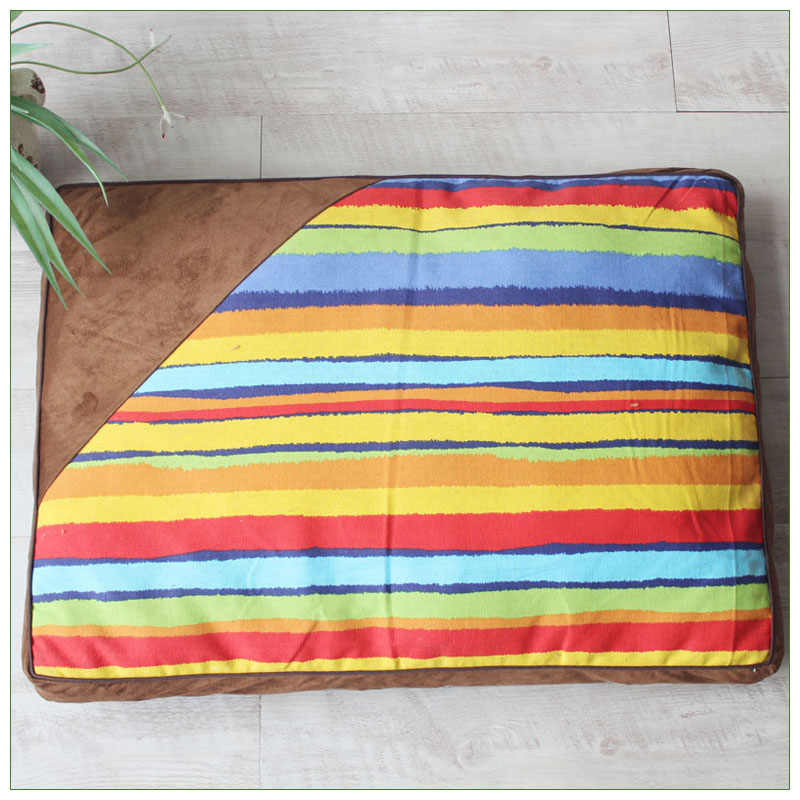 Thick Canvas Striped Dog Bed Mats All Seasons Pillow Top Orthopedic Couch Style Pet Sofa Bed For Large Dogs And Cats Houses Kennels Pens Aliexpress