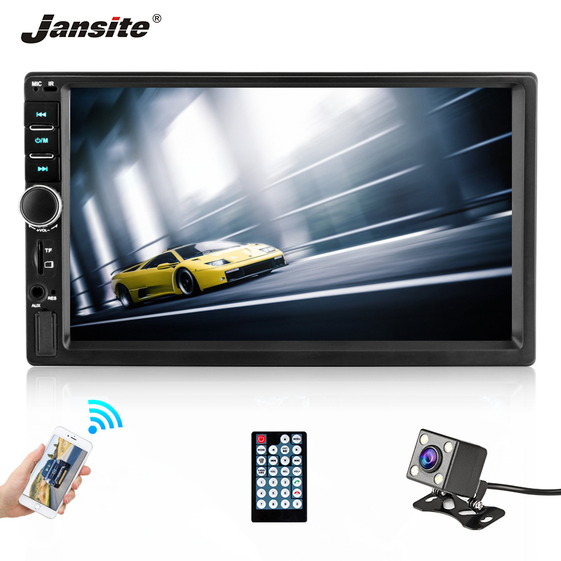 Jansite 7 2 din Full HD Car Radio MP5 player DVD with digital Touch screen Bluetooth