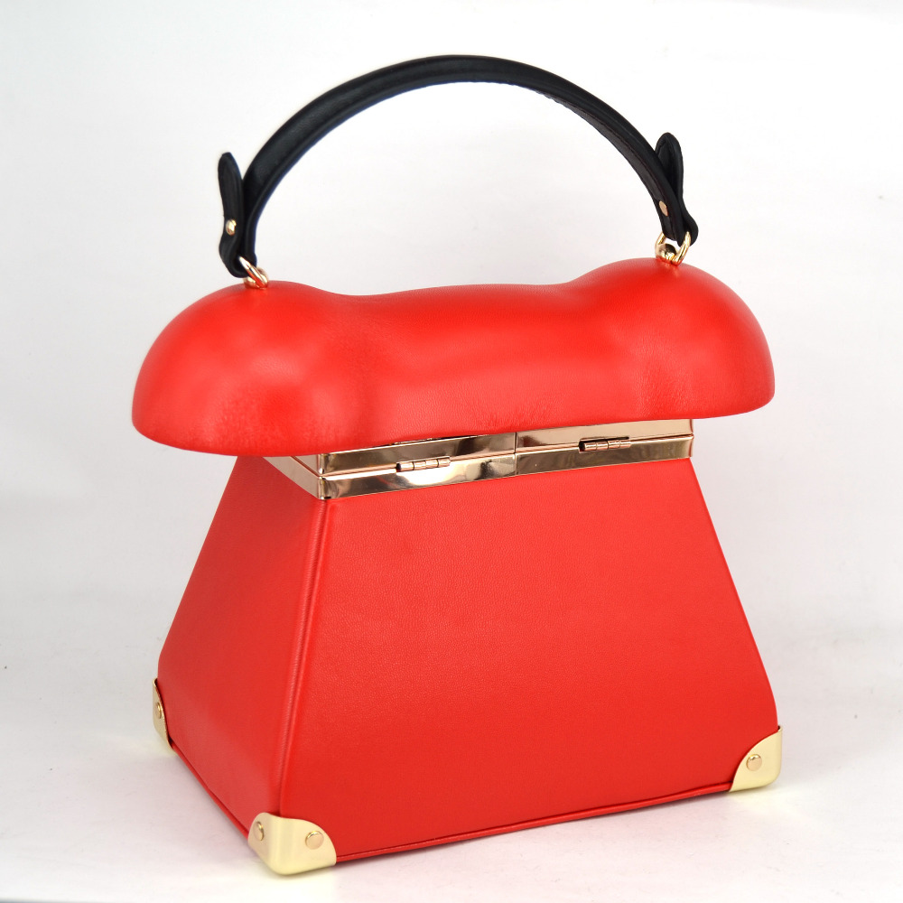 New Fashion vintage Phone Styling Red Black pu leather ladies Evening Bag casual totes purse women's Handbags clutches bag Z072-in Top-Handle Bags from Luggage & Bags    3